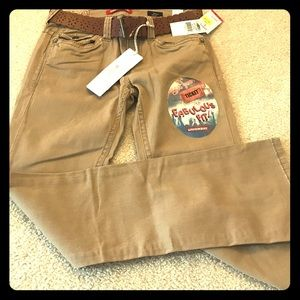 Brand new union bay pants with belt